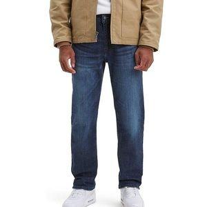 Levis 514 Straight Fit Blue Jeans Mens 33x34 Denim
